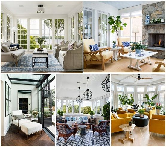 Bright & Gorgeous Sunrooms  filled with welcome features, sunlight, lush plants, relaxed furnishings & indoor-outdoor connection #RealEstate #property #OutdoorSpace #StayHome #WFH #HomeOffices #HomeDécor #renovation #houses #homes #lifestyle #investment.