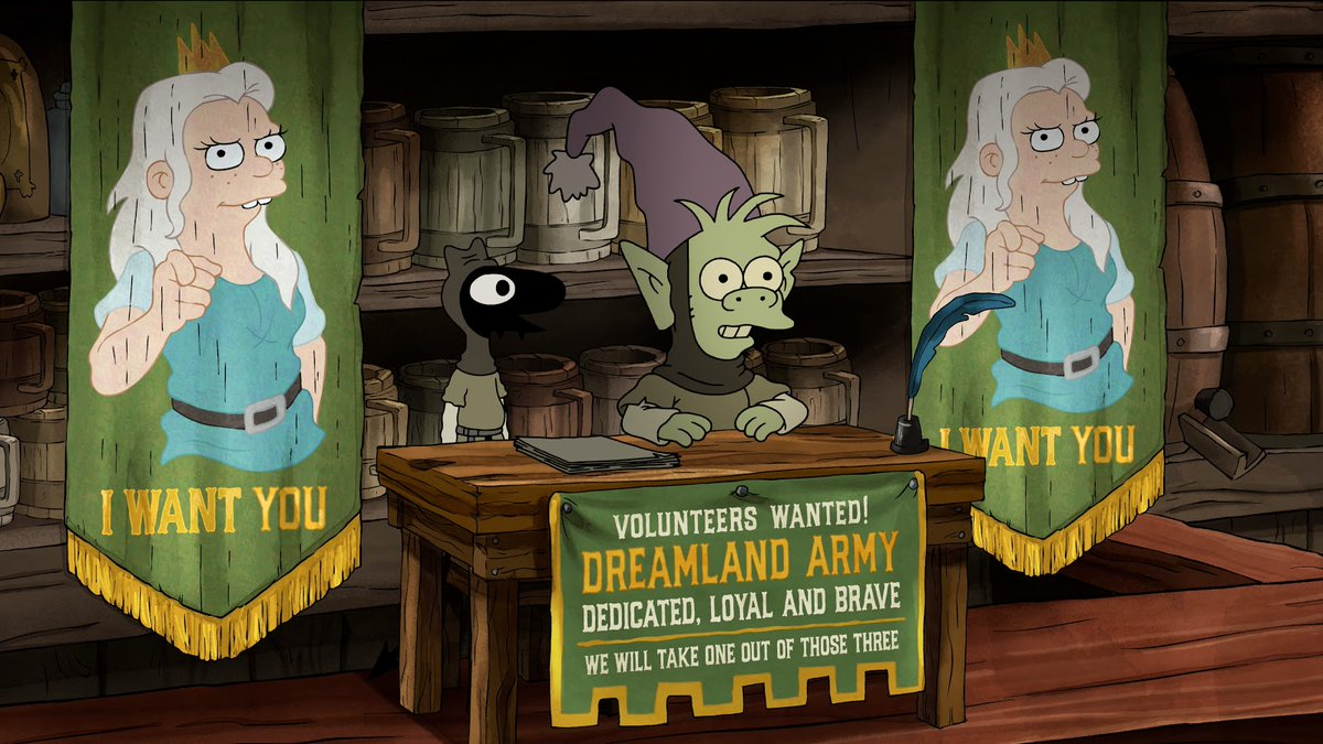 Disenchantment is genuinely tremendous at sneaking in little banner jokes