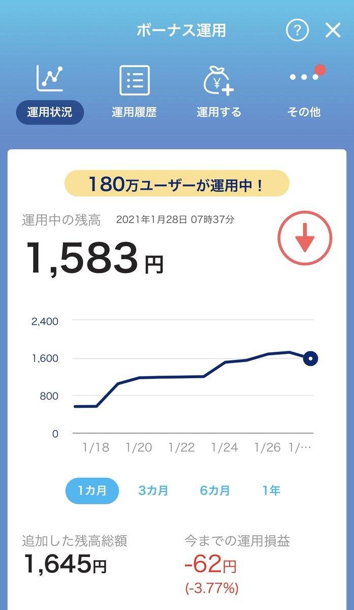 運用 paypay マイナス ボーナス 1円から投資できるがPayPayボーナス運用にはデメリットあり!