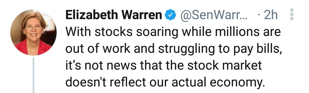 No hypocritical politician should open there mouth about the Wild West market casino, without calling out the #FederalReserve enablers. @AOC @ewarren
