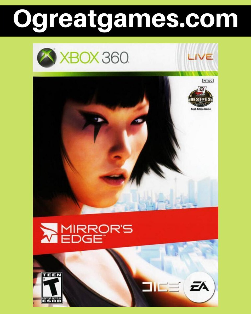 Retweet if you have ever experienced Mirrors Edge!  #fun #tweet #rt #microsoft #games