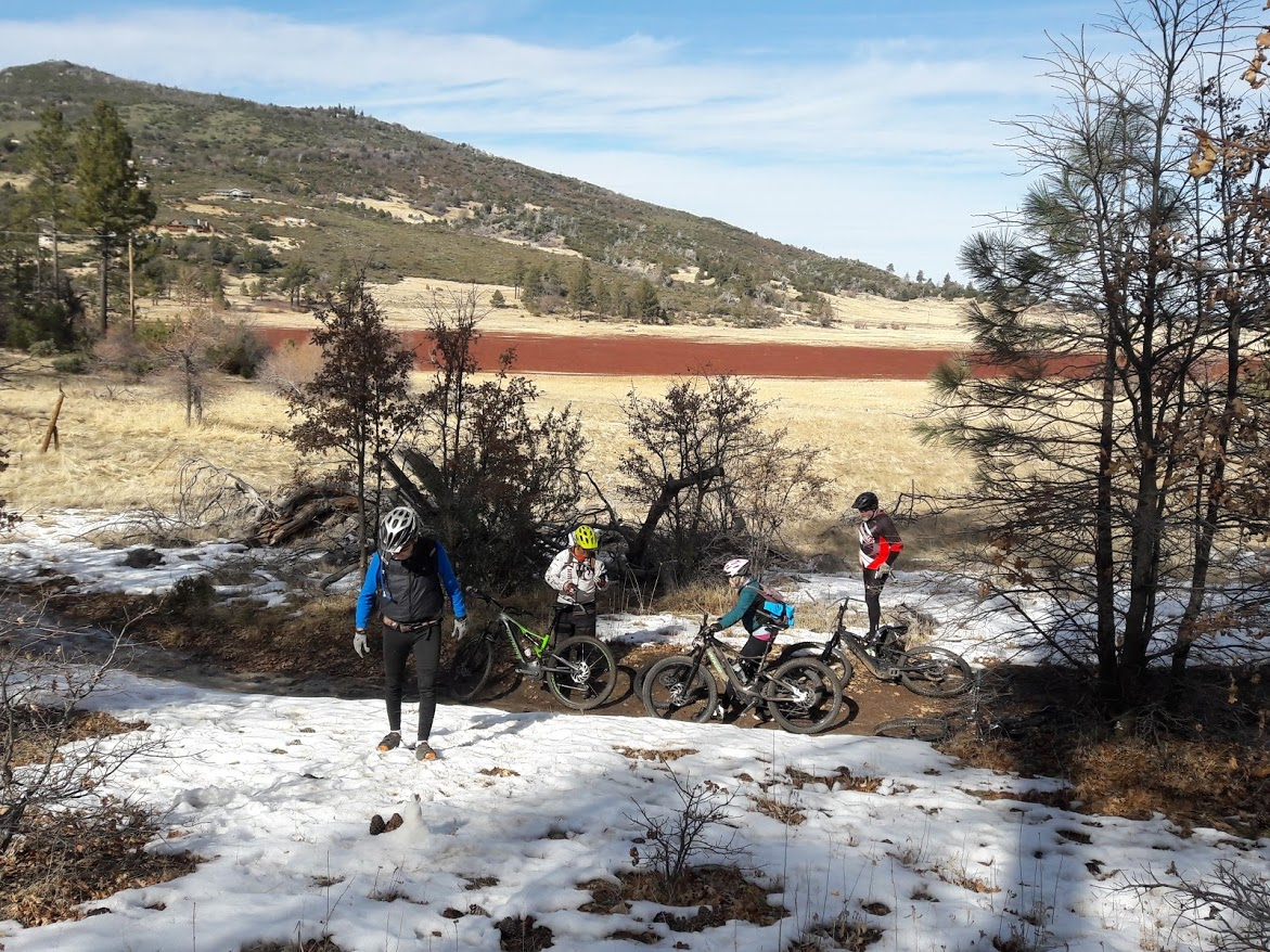 @Pagey73j #snow is not typical in #SoCal so we had a blast in it, too. #mtb #cuyamacarancho