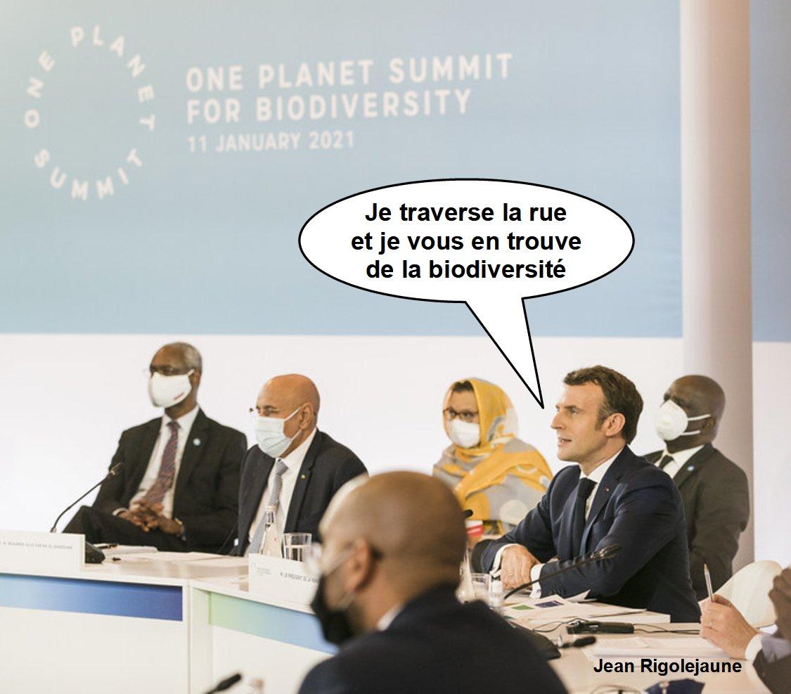 J'ai écouté les discussions du #oneplanetsummit Monsieur #Macron et j'avoue être enfin rassuré pour l'avenir !😅 https://t.co/UDgaO3MAwZ