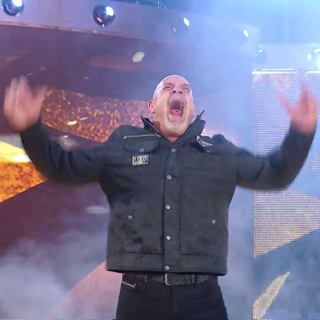 """.@Goldberg's 2016 return is why you NEVER say """"never"""" in WWE..."""