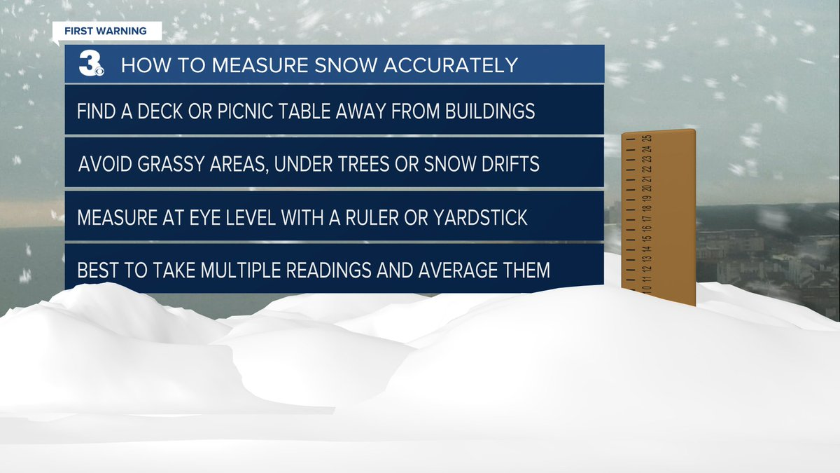 Do you know how to measure snow accurately? Follow these tips. ❄️📏 #FirstWarn3 #snow #measurement