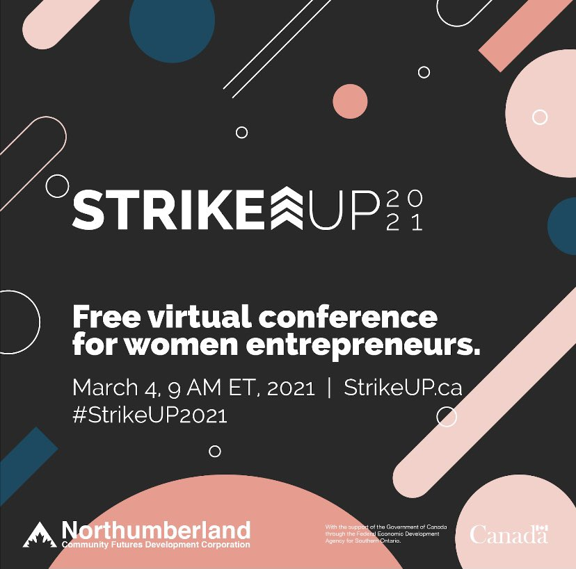 Calling all women entrepreneurs! The @StrikeupCanada conference is coming! We want to hear your stories of starting, scaling, and sustaining as diverse #women #entrepreneurs in Canada. Got a #smallbiz or know someone who does? Tag them!  Visit