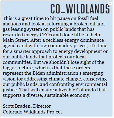 Our statement on today's @POTUS executive order: #publiclands #TimeToAct #ActOnClimate
