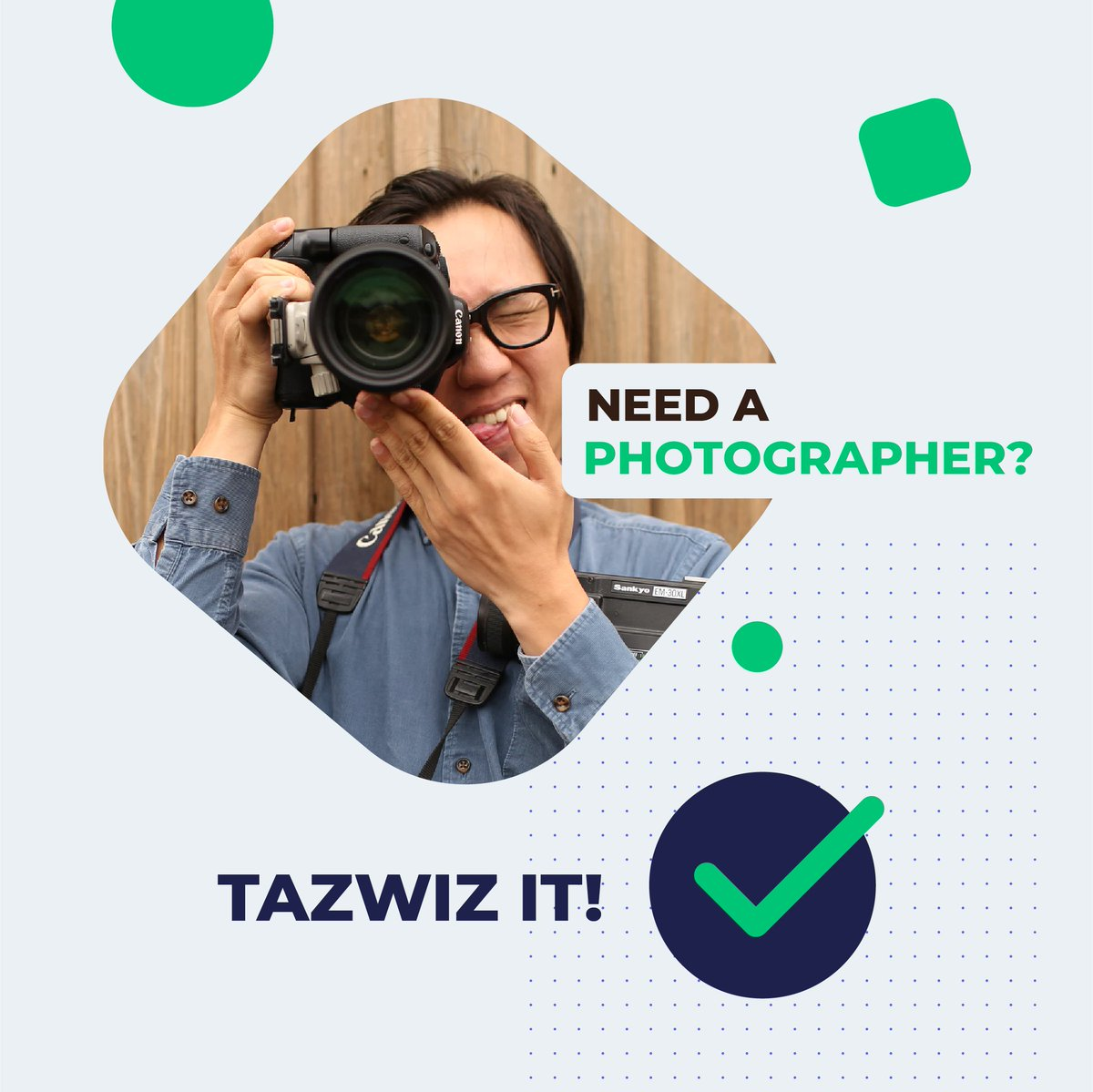 Photographer? Check! ✅  You've got a task? Well we've got talent! When you're short on time and need quality work done, Tazwiz taskers will always pull through!  #tazwizit #photographer #photography #marketing #tech #admin #finance #sales #entrepreneurs