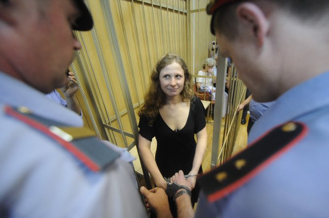 "⚡️⚡️⚡️ NEW CRIMINAL CASE - PUSSY RIOT  Masha Alekhina is arrested for 48 hours, she's a suspect. it's 236.1 article of the criminal code - ""violation of sanitary and epidemiological rules"" (up to 2 years in jail) - for participating in anti-Putin protests on 23 jan.   RETWEET PLZ https://t.co/jdpUe550jc"