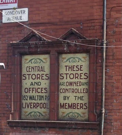 @angiesliverpool Old Co-op mosaic sign in Gondover Avenue, Orrell Park