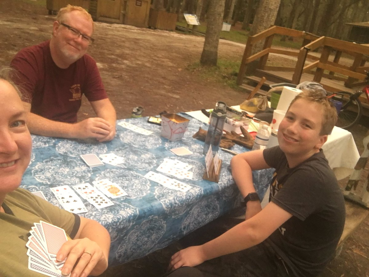 @dionnewarwick I smiled a lot this week on our family camping trip #dionnewarwick. We practically had the place to ourselves. The few people we did see kept their distance/masked & we got to enjoy nature, campfires, hikes & no-tech card games.