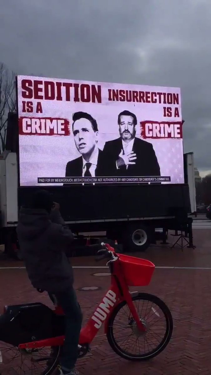 Look at this jumbotron we put outside of the United States Senate for the next eight days