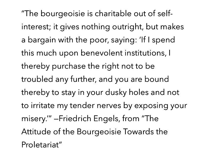 @EveryIbis @bocxtop Charities.... the bourgeoisie contract. Maybe if you understood what it really means when they give to charities..... #EatTheRich #AmericanDream #MedicareForAll #EducationForAll #UBI