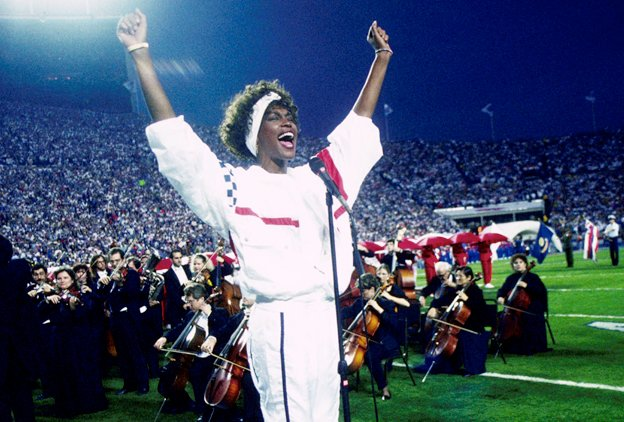 It's hard to believe that it's been 30 years today, since the iconic Whitney Houston left us riveted with her performance of the Star Spangled Banner for Super Bowl XXV.  It is one of my favorite versions of the patriotic song! Thank you, Whitney! #starspangledbanner #thevoice