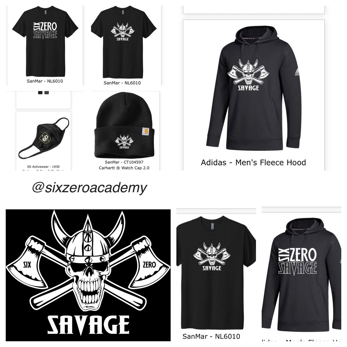 ONLINE STORE IS UP! Check out the @SixZeroAcademy Swag! Get yours now!  👇🏻