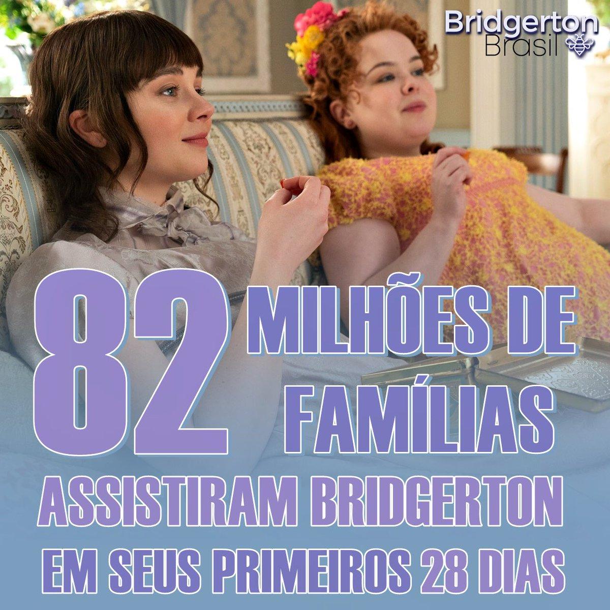 Bridgerton atingiu a marca de 82 milhões de espectadores com menos de um mês de lançamento. É poder que falar, né?
