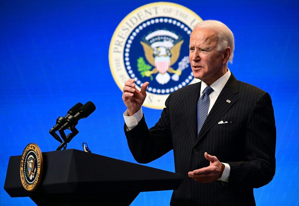 """الرئيس الأميركي، جو #بايدن عبر تويتر:  """" أطلقت نهجًا حكوميًا شاملاً للتعامل مع أزمة تغير المناخ"""""""