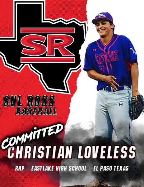 Blessed to announce my academic/athletic commitment to Sul Ross State University. I thank God, family, teachers, coaches, friends for helping me become who I am today @EHS_FalconBSBL,@ElPasoProspect,@andy_powers13,@EPSports915, @SulRossBaseball, @Fchavezeptimes, @ChrisLoveless15