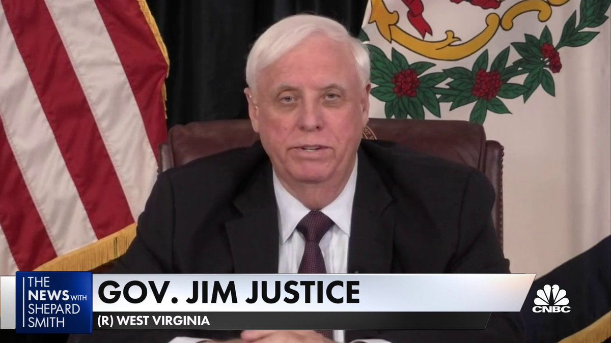 """We took an 'all in' approach"" to rollout the Covid vaccine in West Virginia, Gov. Jim Justice says. ""This isn't rocket science."""
