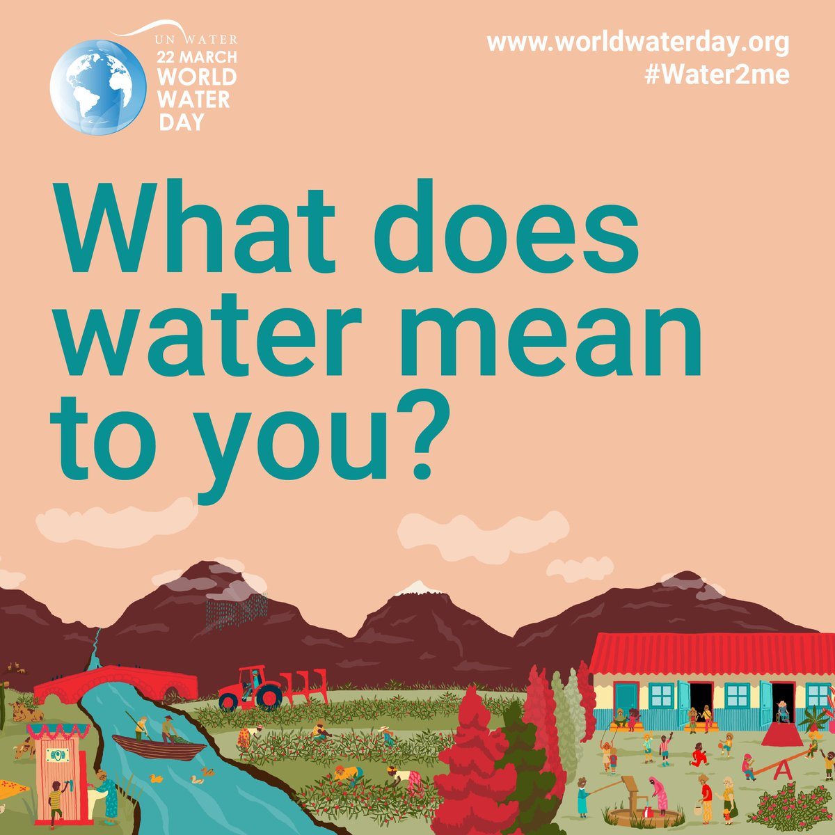 Water🚰 is under extreme threat from, ✅Growing population ✅Increasing demands of agriculture & industry ✅The worsening impacts of climate change We need to value water💧 and safeguard it effectively .  What does water mean to you? #Water2me  📖