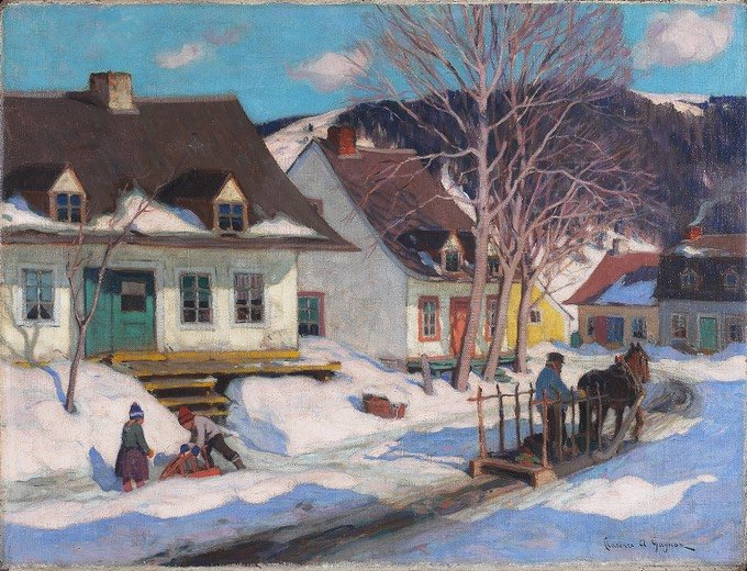 By #ClarenceGagnon - #aQuebecVillageStreet  #snow #snowing #winter #cold #ice #white #weather #sky #skies #frosty #frost #chilly #TFLers #nature #snowflakes #instagood #instawinter #instasnow #photooftheday #snowfall #blizzard