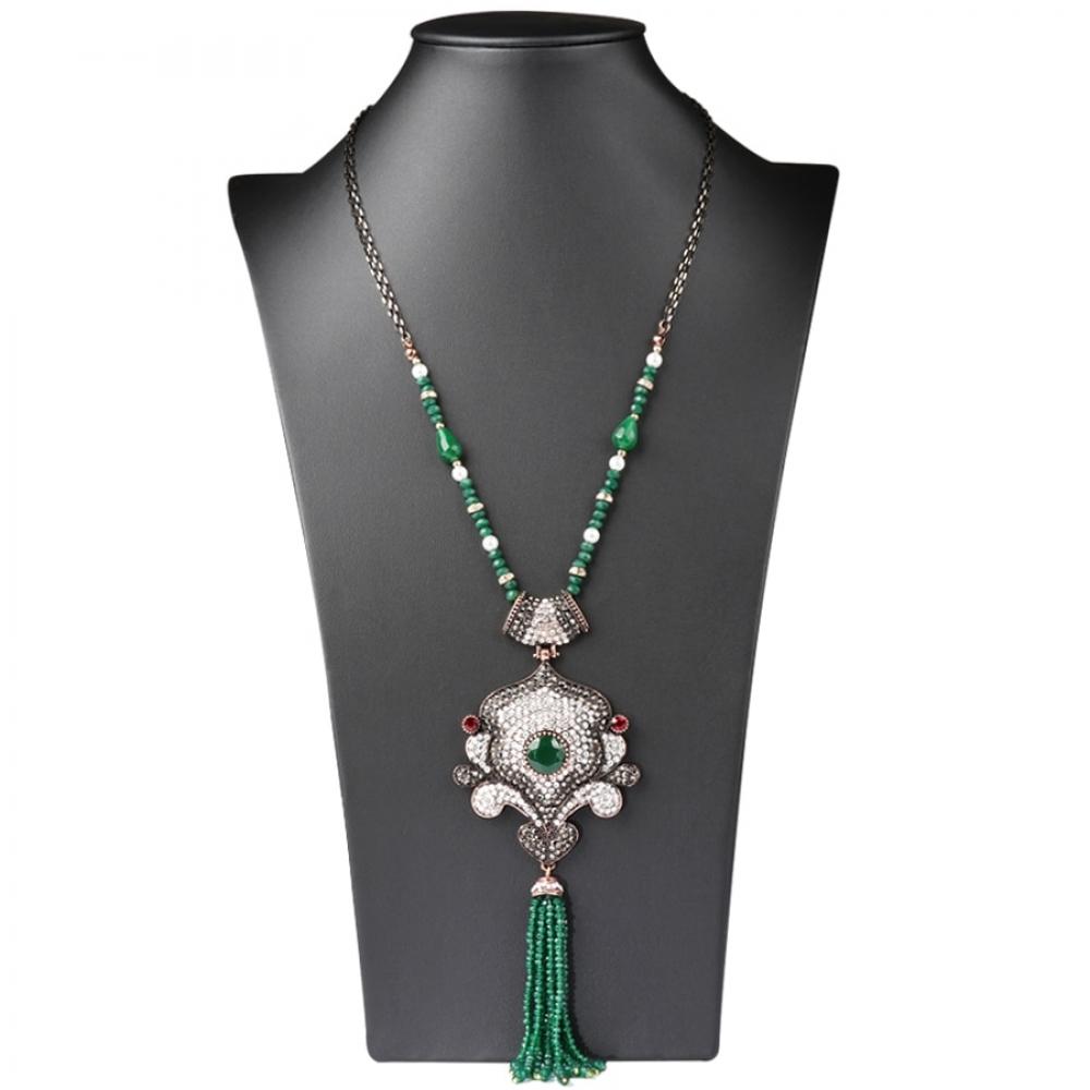 Women's Ethnic Style Tassel Necklace #swag #summer