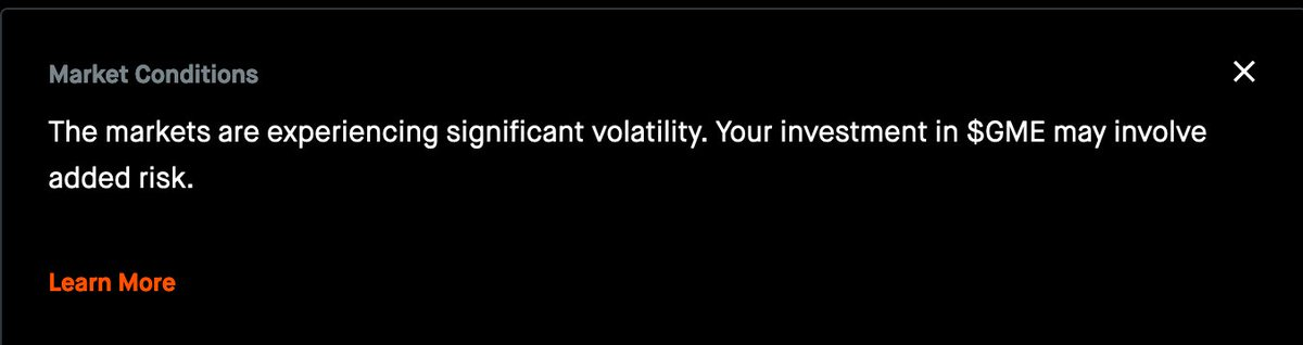 Hey @RobinhoodApp this is true every day? Why the sudden need to remind me? Cause your pals in #wallstreetbets are loosing?