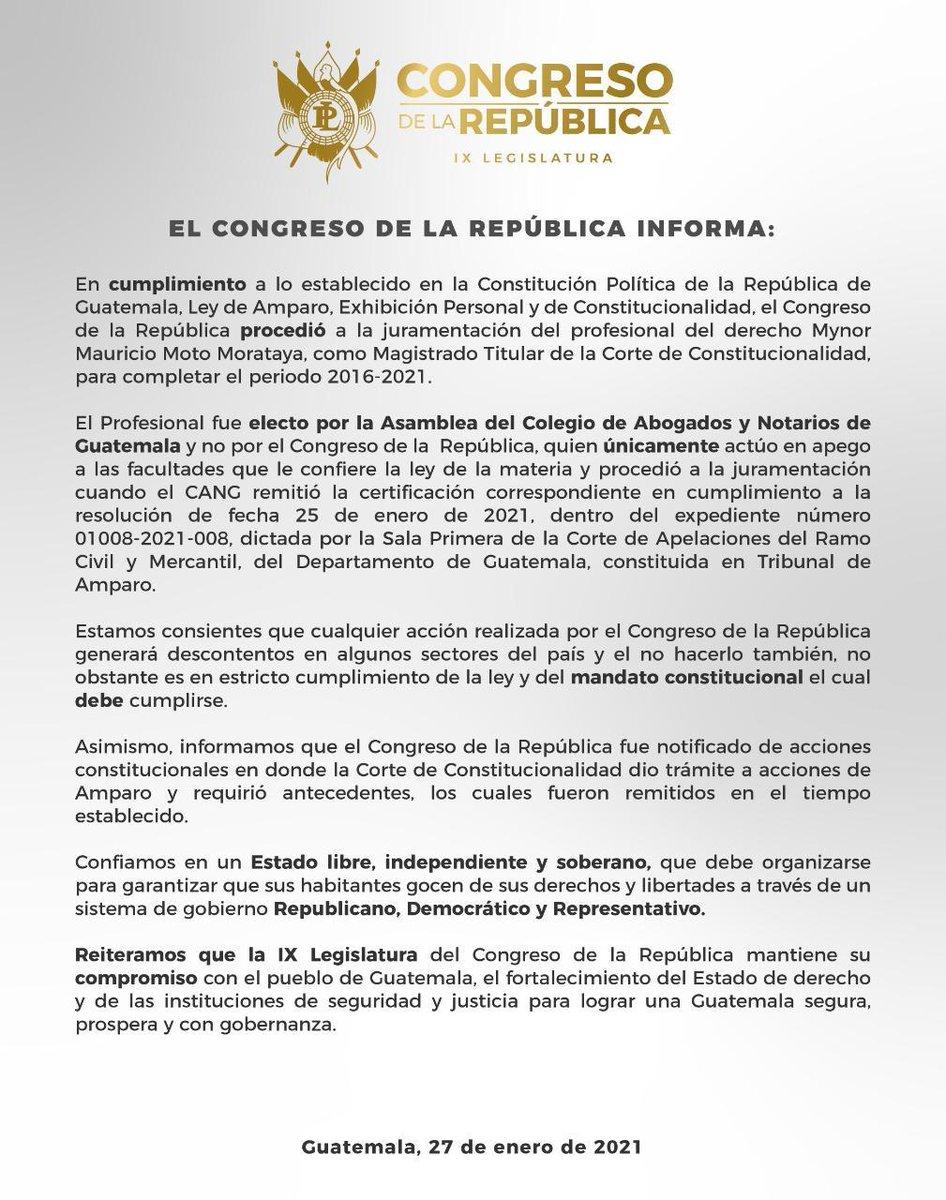 test Twitter Media - El Congreso se pronuncia por la juramentación del juez Mynor Moto como magistrado de la CC. https://t.co/b6vBDALIhH