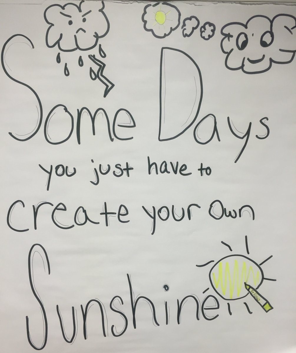 Motivational post of the week. A daughter of one of my coworkers used to draw these in the office when she visited. Glad I saved a picture of them. #StayPositive #GoodThoughts #CreateYourOwnSunshine  - #CPA #TaxTwitter