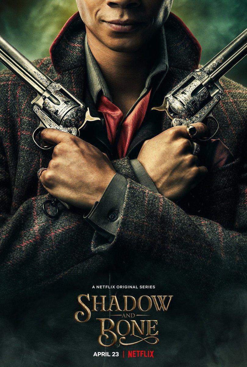 Revelaron estos teaser pósters de la serie #ShadowAndBone, adaptación de las novelas homónimas de fantasía que prepara #Netflix y estrenan el 23 de abril.