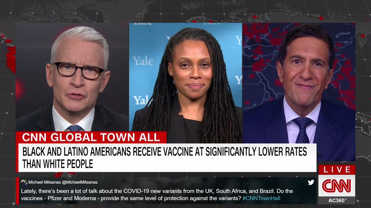 """Dr. Marcella Nunez-Smith, chair of Covid-19 health equity task force, says the Biden administration is taking a """"multi-component"""" approach towards equitable access to vaccines.  """"We have to build vaccine confidence,"""" she adds. #CNNTownHall"""