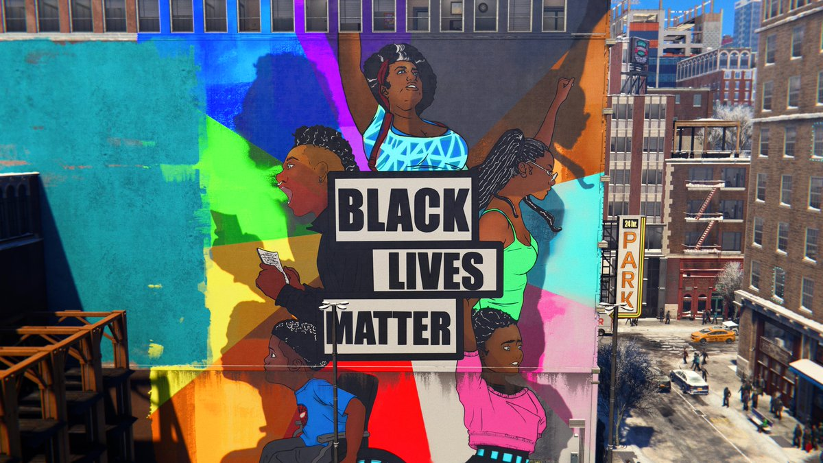 #PS5Share, #MarvelsSpiderManMilesMorales #BlackLivesMatter