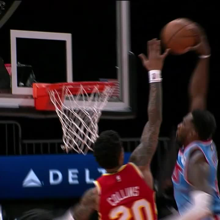Jeff Green's poster had the Nets' bench hype 😲