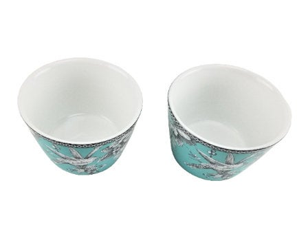 Excited to share the latest addition to my #etsy shop: 222 Fifth Adelaide Turquoise Toile French Country Floral Round Dessert Bowls Set of 2  #blue #ceramic #housewarming #christmas #adelaide #222fifth #turquoise #china #dessertbowls #bowls