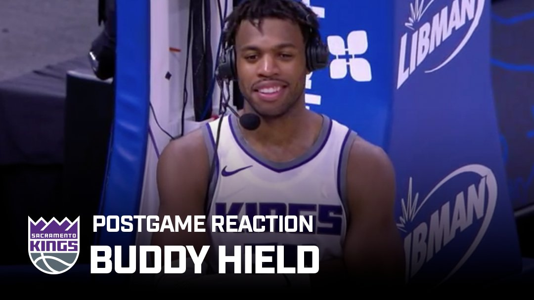 """""""Once I [saw] them drop, I was more aggressive with my shot.""""   @buddyhield speaks postgame about dropping a season high in the win in Orlando 🎙 https://t.co/PiuKTgYGAy"""