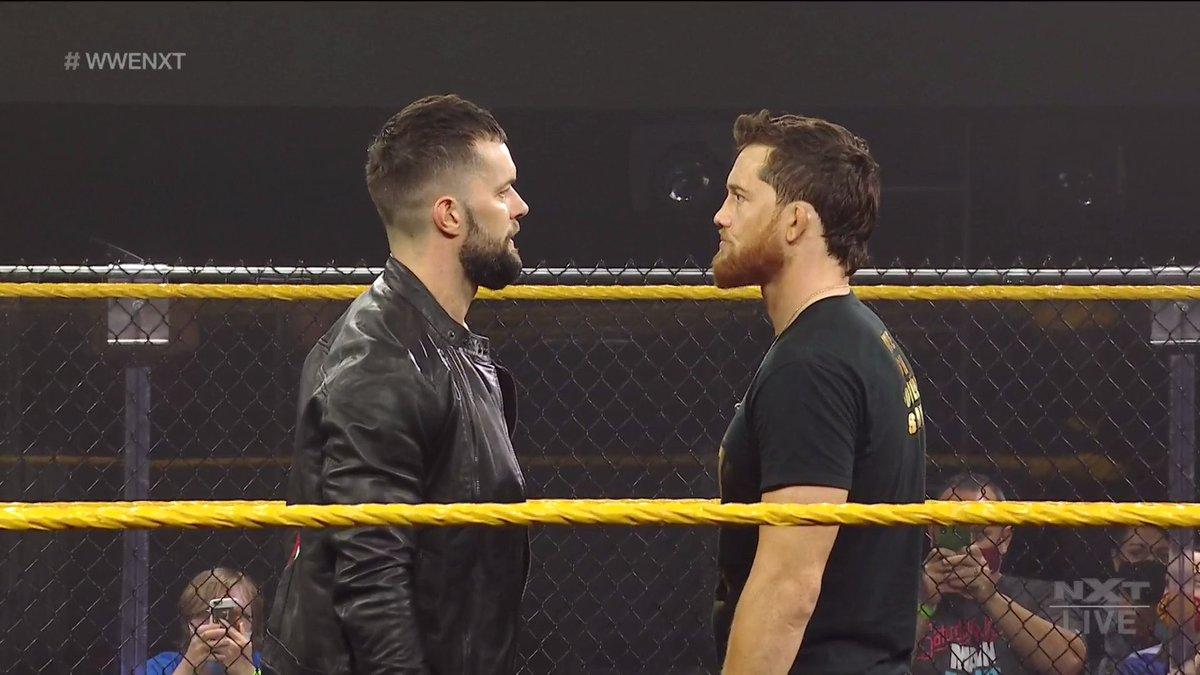 Replying to @WWENXT: Not tonight, boys. #WWENXT @FinnBalor @KORcombat
