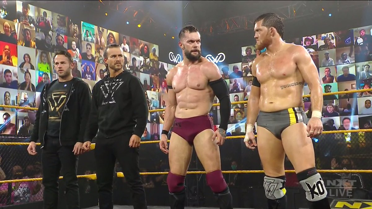 Replying to @WWE: Truce?  #WWENXT @FinnBalor @AdamColePro @KORcombat @roderickstrong