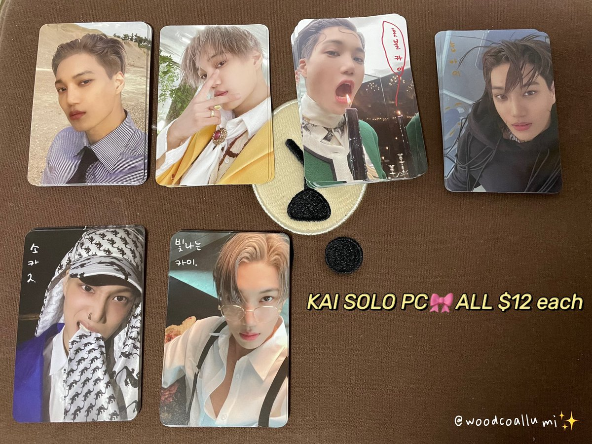 💕WTS 💕 EXO #KAI Solo PCs   🖍shipping: WW 🇺🇸 🇨🇦preferred  🧮Payment: Paypal/E-transfer  🧷Delivery: Feb 🧷Price shown on picture : in USD,postage excluded