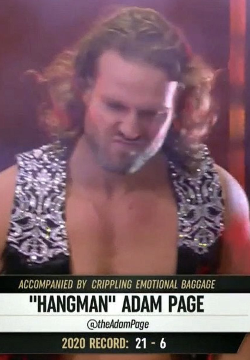 I've never related to a wrestler more #AEWDynamite