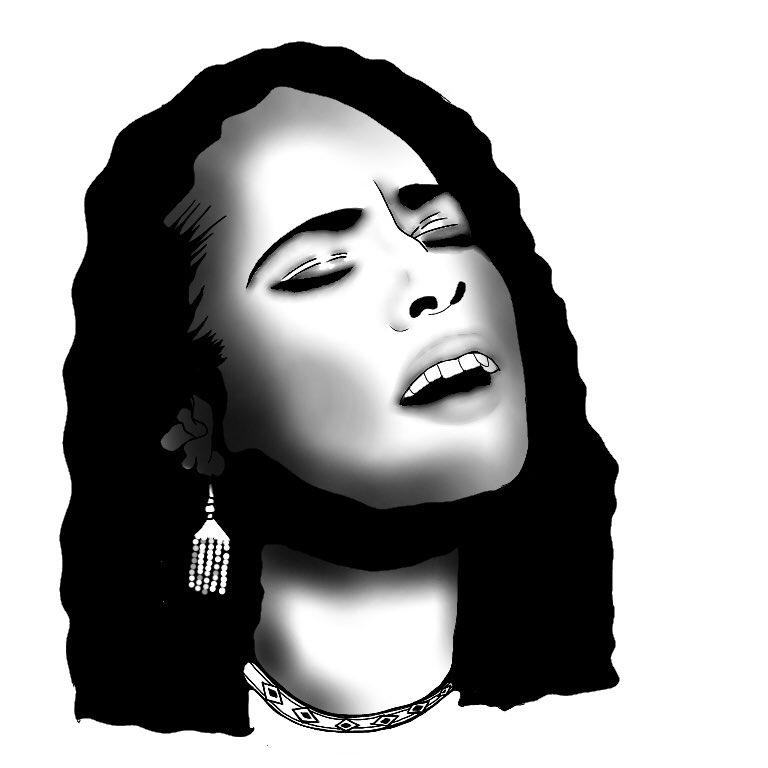 Hand Drawing. . #kalonjapan #monochromeart #design #logo #paint #デザイン #handdrawing #streetart #graphicdesign #art #drawing #オリジナルデザイン #rnb #aliciakeys #jordan #music #portrait #似顔絵