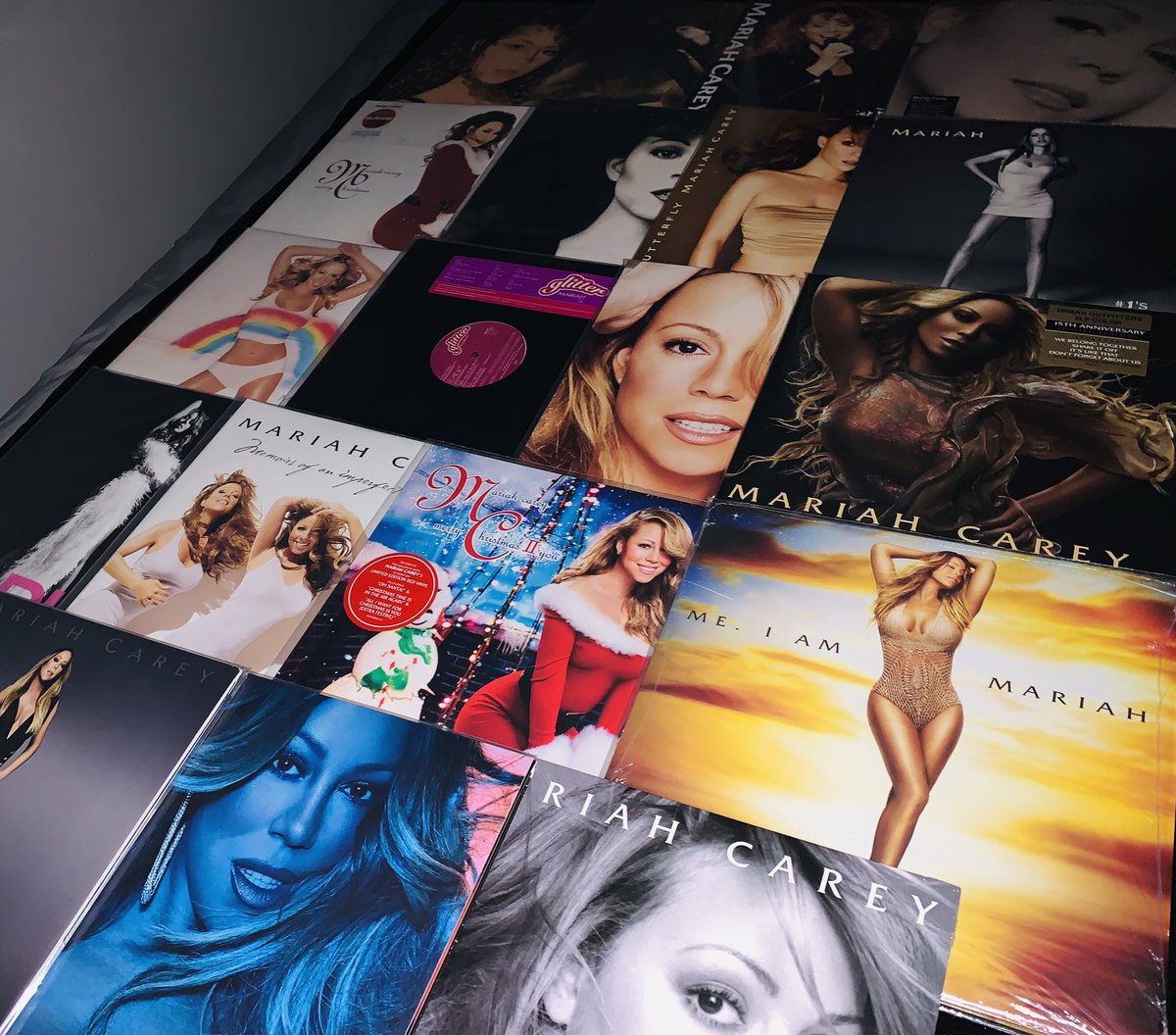 @MariahCarey The vinyl collection is complete, Queen! ❤️🐑  #lambily  #mariahcarey