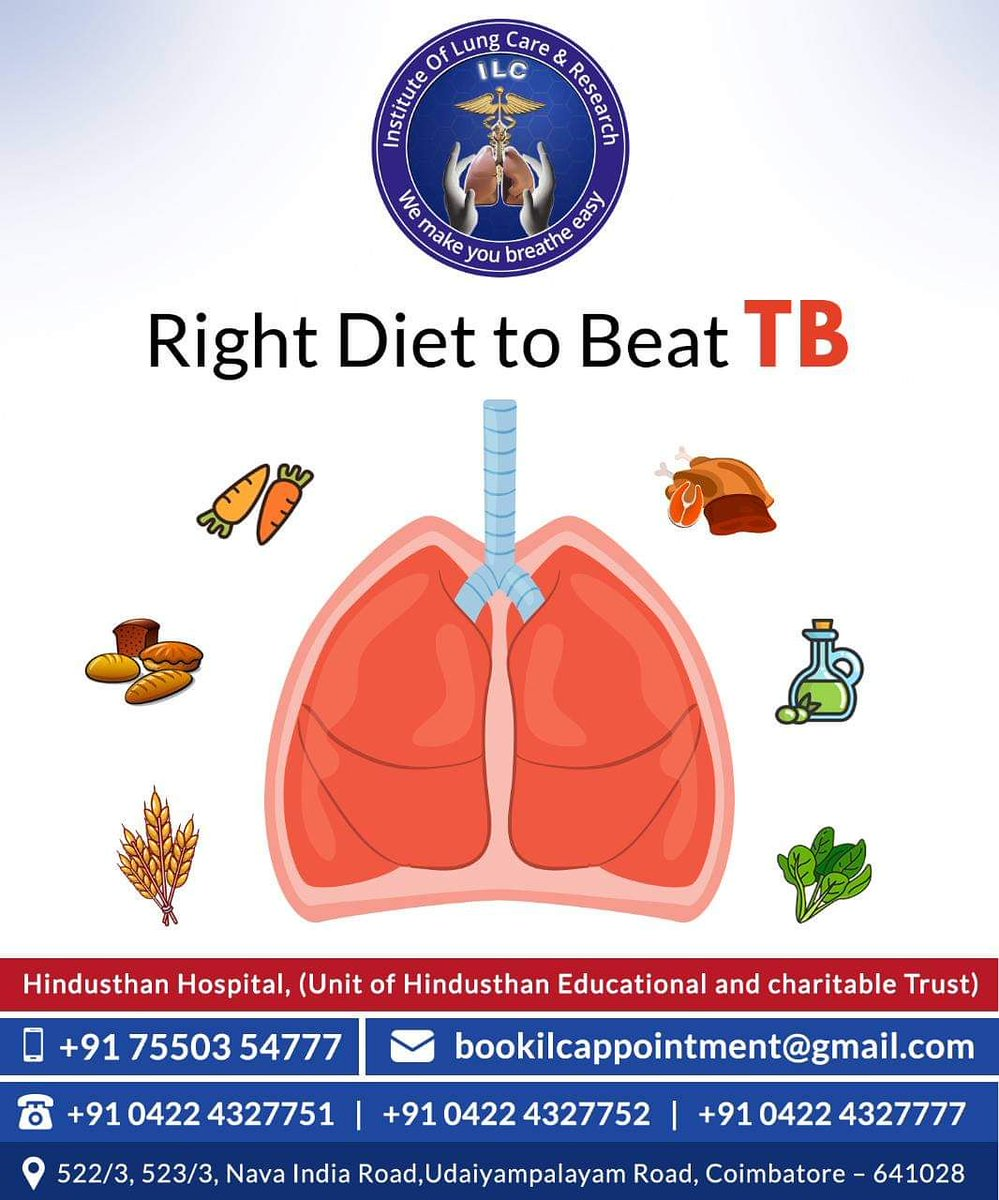 For further guidance from our Pulmonologists about what to do and what not to do when it comes to TB, reach out to us at +91 75503 54777 today.  #tuberculosis #tb #healthcare #highprotien #highprotiendiet #antioxidants #healthyfood #pulmonologists #instituteoflungcare https://t.co/oJLEgdwXZx