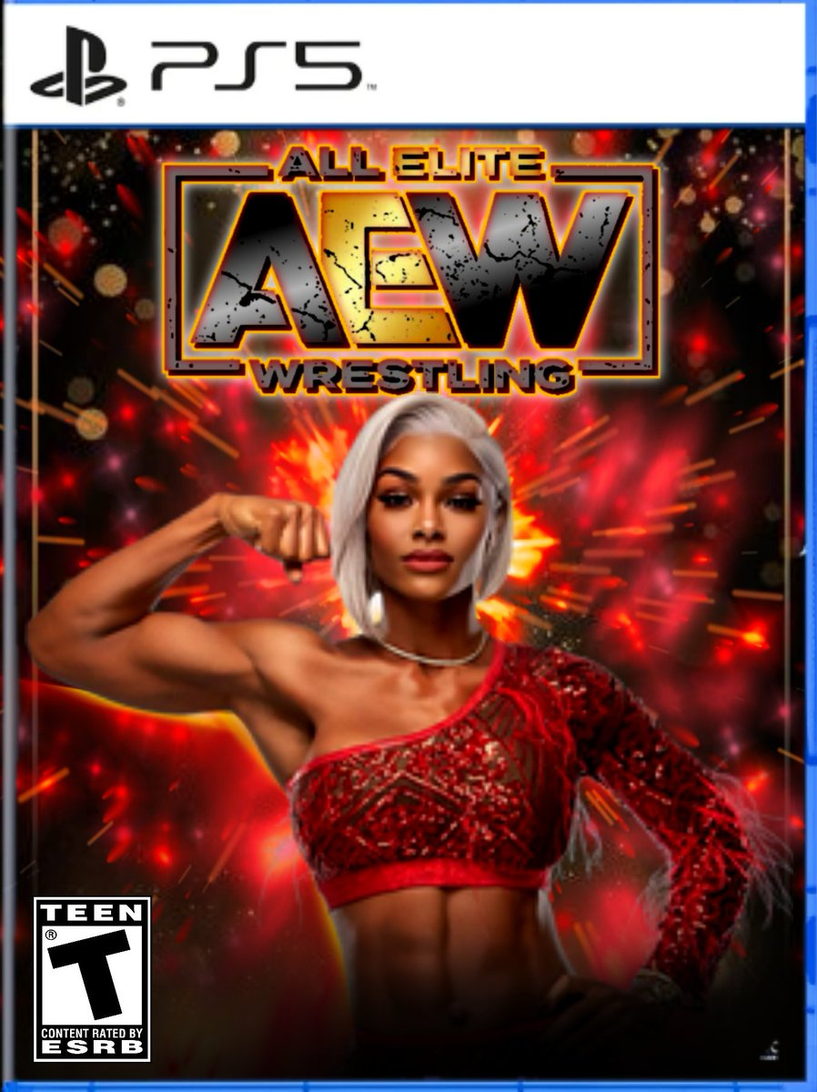 Next up in my @AEWGames custom covers... The extremely beautiful & talented @Jade_Cargill... I hope to see her do big things in @AEW cause this woman is physically on a different level. #WrestlingCommunity #AEW #AEWFam #WrestlingTwitter #wrestling #AllEliteWrestling #Wrestler