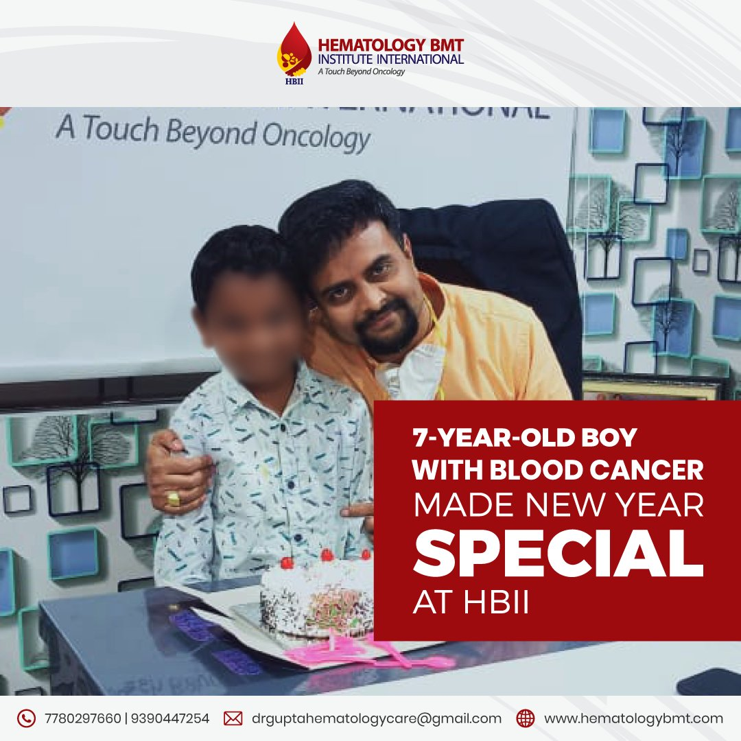 Rohan (name changed), a 7-year-old blood cancer patient made New Year at #HBII an unforgettable moment. He ordered a cake to celebrate New Year eve with Dr. S.K Gupta. #newyear #happynewyear #hematologists #patientcare #blooddisorders #dedicateddoctors #oncologists  #cure