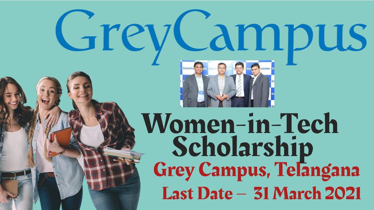 Women-in-Tech Scholarship at Grey Campus, Telangana