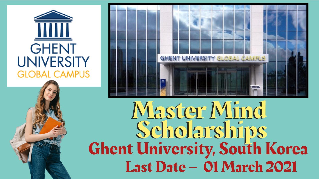 Master Mind Scholarships at Ghent University, South Korea