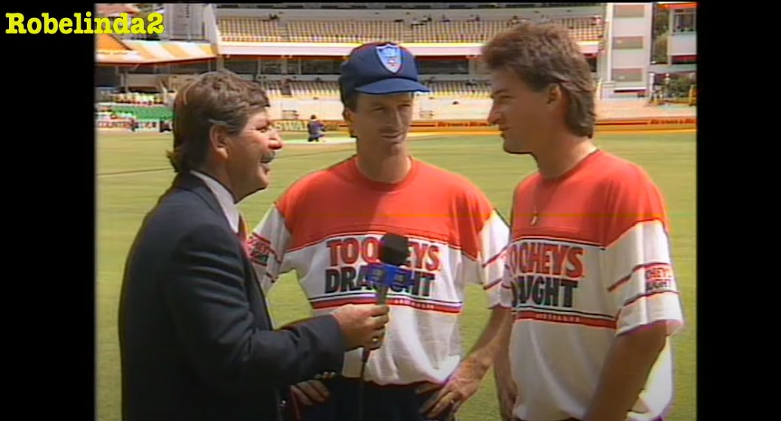 NSW vs WA @ the WACA Ground, Perth, Dec 1990  Partnership: 464* Mark Waugh 229* (343)  Steve Waugh 216* (339)  (Highest partnership in Shield history at the time)  #WACA #SheffieldShield #AUSvIND #SAvAUS #Cricket @juniorwaugh349 @CricketNSWBlues