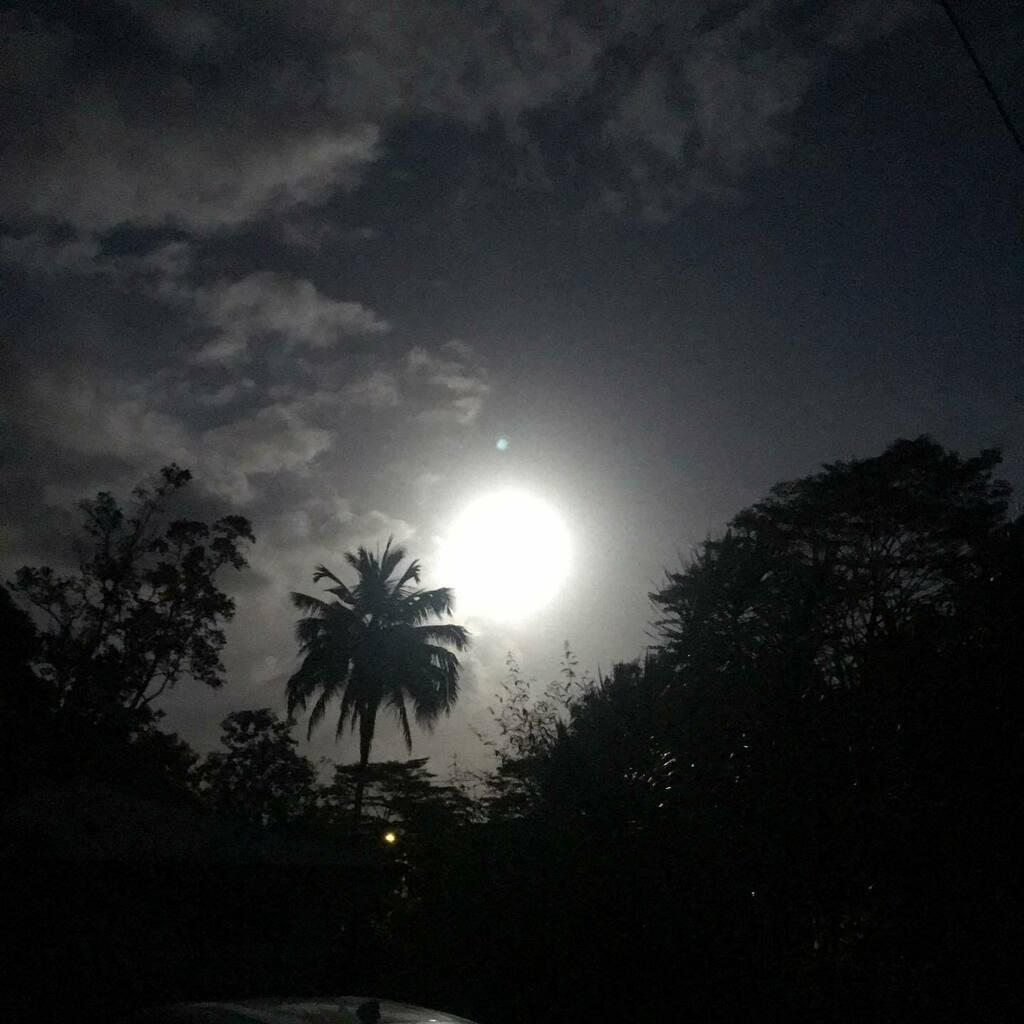 1/27/21 22℃ #空 #イマソラ #月が綺麗だった #ハワイ #ハワイ島 #sky #skygram #moon #hawaii #bigisland #ig_hawaii #instasky
