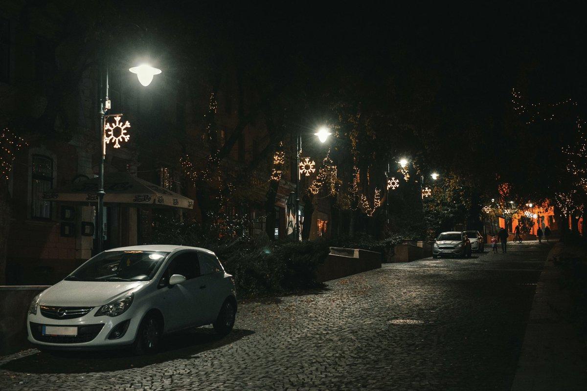 Small town winter holiday capture ✨   #streetphoto #urban #Christmas #holidayseason #lights #photography #mood #Hungary #Europe #European