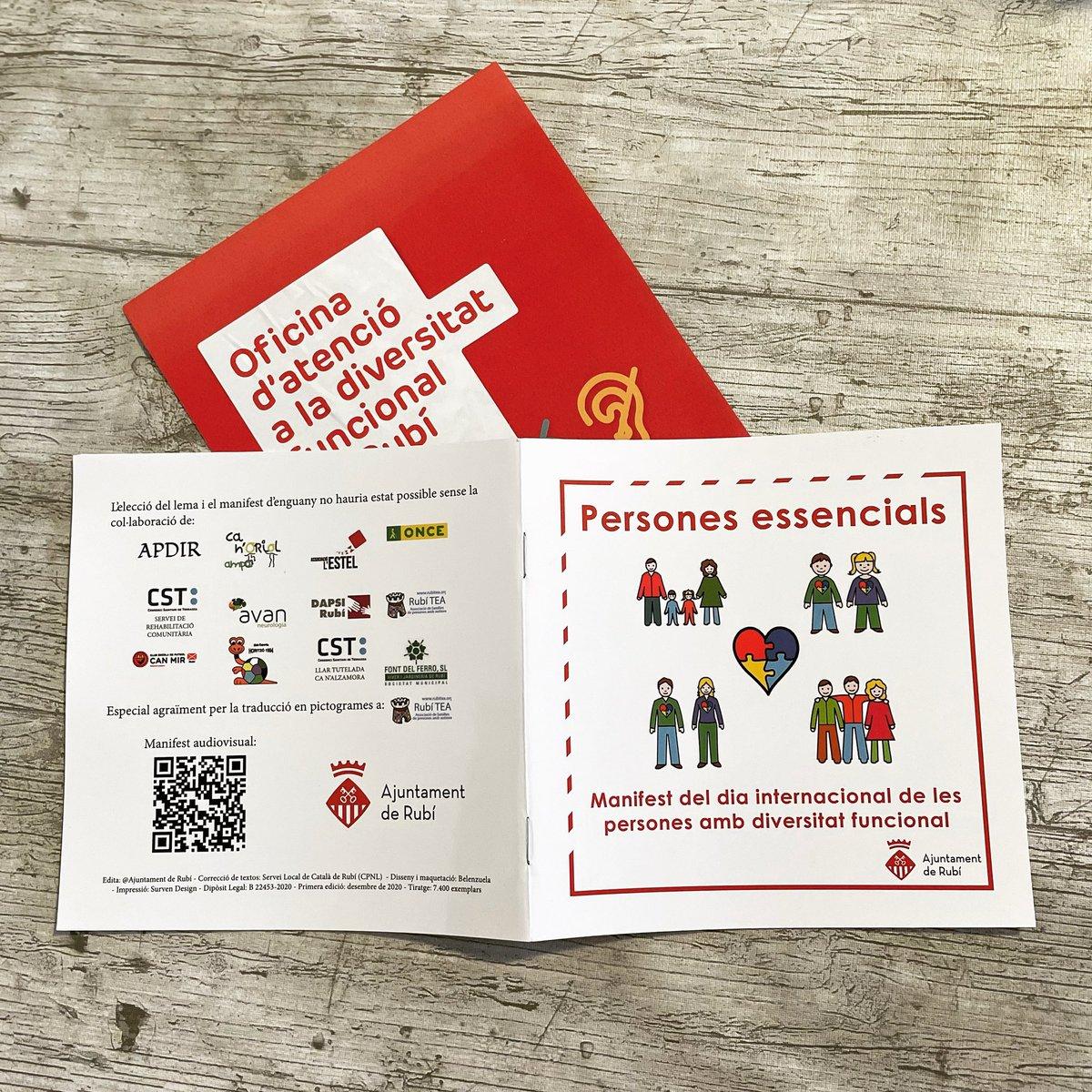 Així de xulos han quedat els llibrets distribuïts a les escoles de Rubi amb el manifest elaborat per les entitats dedicades a la diversitat funcional de #rubicity i traduït amb pictogrames d'Arasaac per  #rubítea Gràcies! @rubi_ciutat #autisme #autismo #TEA